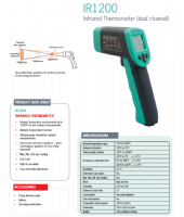 Kewtech IR1200 Infrared Thermometer (Dual Channel)